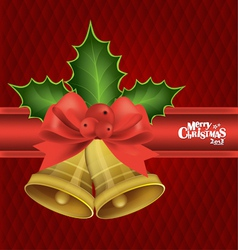 Christmas background with Christmas bells vector image
