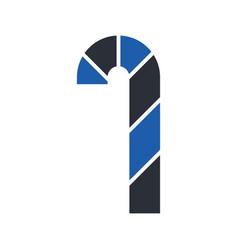 christmas lolipop glyph icon vector image