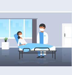 coronavirus infect control diagnosis concept vector image