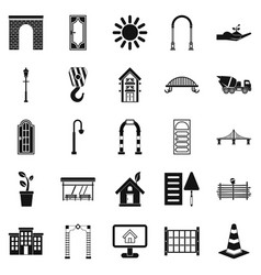 Digging icons set simple style vector