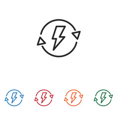 energy saving icon vector image