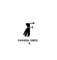 Fashion and dress logo design vector