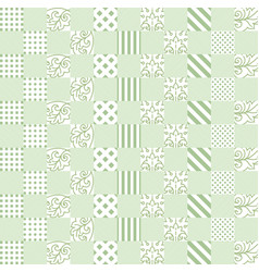 fashionable green square pattern ornament in a vector image