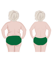 fat and slim girls back vector image