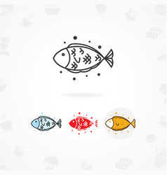 fish food icon vector image