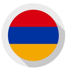 Flag armenia round shape icon on white vector