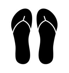 flip flops slippers silhouette symbol icon design vector image