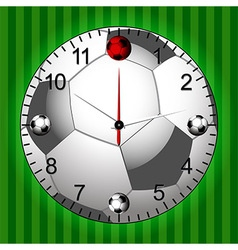 Football Soccer Clock vector image