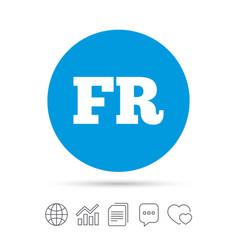 French language sign icon fr translation vector