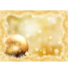 Gold christmas card with copy sace EPS 8 vector image