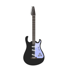 guitar icon stringed electric musical instrument vector image