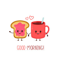 happy cute smiling funny cup vector image