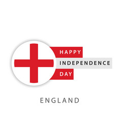 happy england independence day template design vector image
