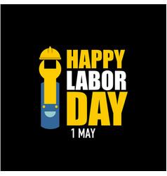 Happy labor day template design vector