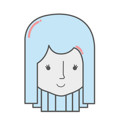 happy woman head and nice face vector image