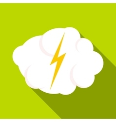 High voltage icon flat style vector