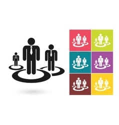 Human resources management icon vector image