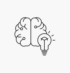 idea business brain mind bulb line icon isolated vector image