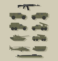 infographics of military equipment vector image