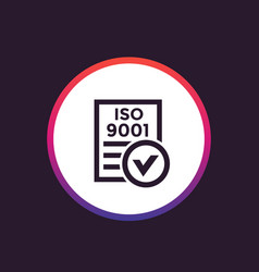 iso 9001 icon vector image