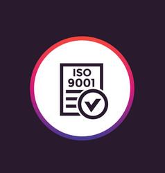 Iso 9001 icon vector