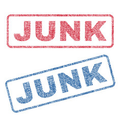 Junk textile stamps vector