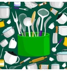 Kitchenware icons setSteel kitchen vector