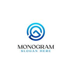 letter g monogram logo template vector image