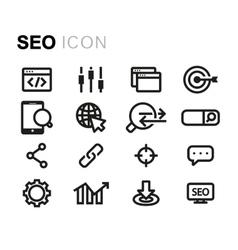 line seo icons set vector image