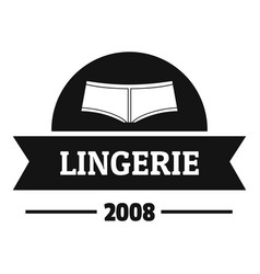 Lingerie girl logo simple black style vector