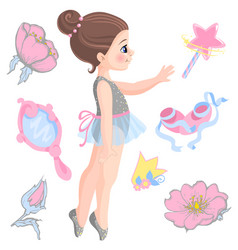little ballerina and other vector image vector image