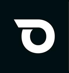 logo letter o wing vector image