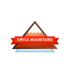 Logo with mountains in switzerland vector