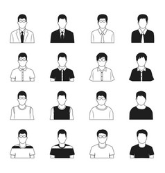 Man icons set vector