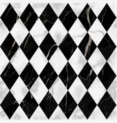 marble luxury check rhombus seamless pattern vector image