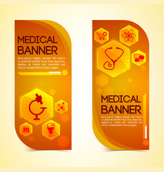 medical vertical banners set vector image