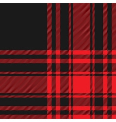Menzies tartan black red kilt fabric texture vector image