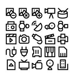 Multimedia Icon 6 vector