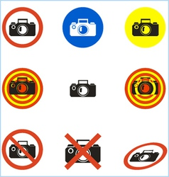 no photo icons set vector image