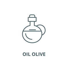 oil olive line icon linear concept vector image