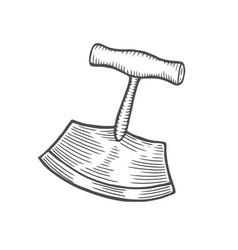 old knife pruner vector image