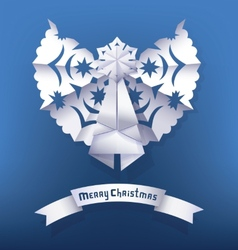 Paper angel Christmas Greeting vector image