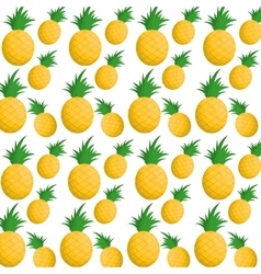 Pineapples fruits background design vector
