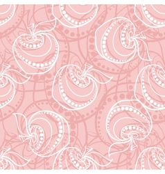 Pink Apple Pattern vector image