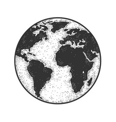 planet earth globe sketch vector image