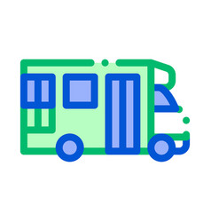 public transport paratransit sign icon vector image