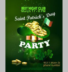 Saint patricks day invitation card design vector