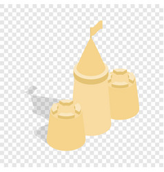 sandcastle isometric icon vector image