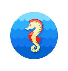 Sea Horse icon Summer Vacation vector image