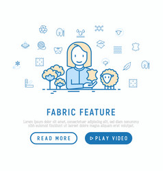 seamstress with thin line icons vector image
